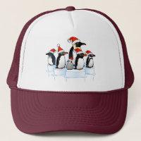 Christmas Penguin Party Trucker Hat