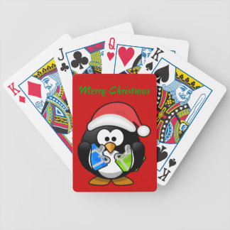 Christmas Penguin Playing Cards