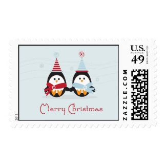 Christmas Penguin Postage