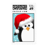 Christmas Penguin Postage Stamps