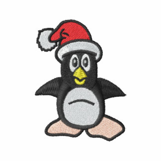 Christmas Penguin Santa Hat Cute Embroidery Design