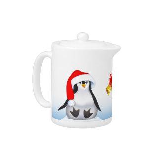 Christmas Penguin Teapot