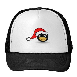 Christmas Penguin Wearing Santa Hat