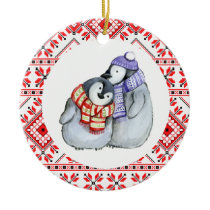 christmas penguin winter animals decoration bauble