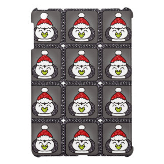 Christmas Penguin with Santa Hat Black Ipad Mini C Cover For The iPad Mini