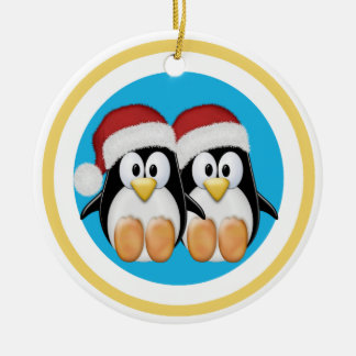 Christmas Penguins (1 sided) Ornaments