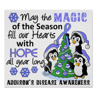 Christmas Penguins Addison's Disease Posters