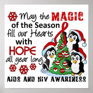 Christmas Penguins AIDS HIV Print