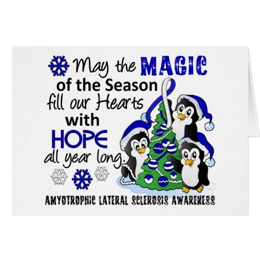 Christmas Penguins ALS Lou Gehrig's Disease Greeting Card