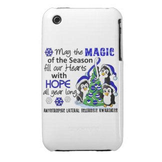 Christmas Penguins ALS Lou Gehrig's Disease Case-Mate iPhone 3 Case