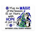Christmas Penguins ALS Lou Gehrig's Disease Postcard