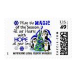 Christmas Penguins ALS Lou Gehrig's Disease Stamp