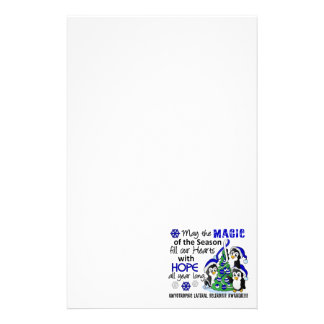 Christmas Penguins ALS Lou Gehrig's Disease Stationery Paper