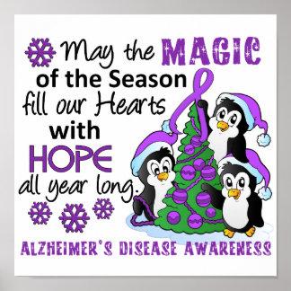 Christmas Penguins Alzheimer s Disease Print