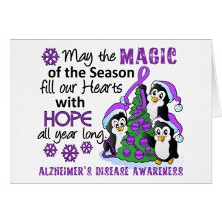 Christmas Penguins Alzheimer's Disease Greeting Card