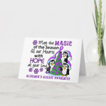 Christmas Penguins Alzheimer's Disease Holiday Card