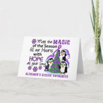 Christmas Penguins Alzheimer's Disease Holiday Card