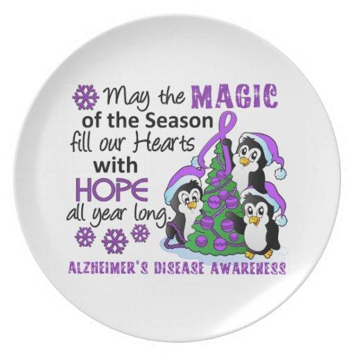 Christmas Penguins Alzheimer's Disease Plate