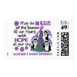 Christmas Penguins Alzheimer's Disease Postage Stamp