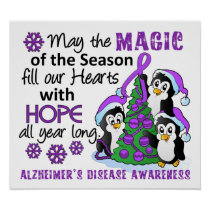 Christmas Penguins Alzheimer's Disease Poster