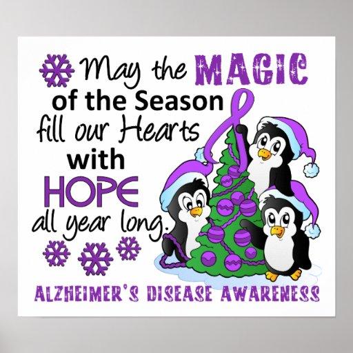 Christmas Penguins Alzheimer's Disease Poster