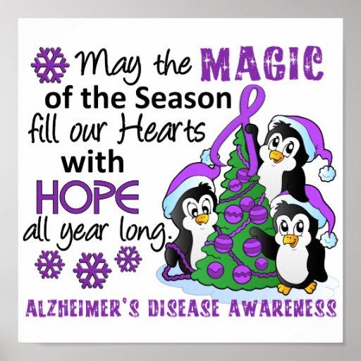 Christmas Penguins Alzheimer's Disease Print