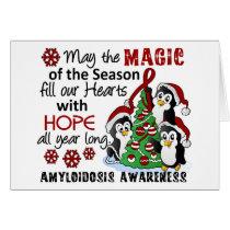 Christmas Penguins Amyloidosis Card