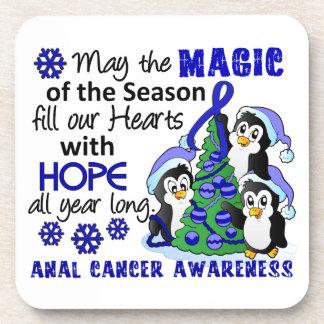 Christmas Penguins Anal Cancer Coaster