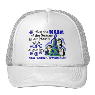 Christmas Penguins Anal Cancer Trucker Hats