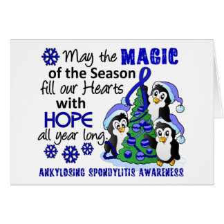 Christmas Penguins Ankylosing Spondylitis AS Greeting Card
