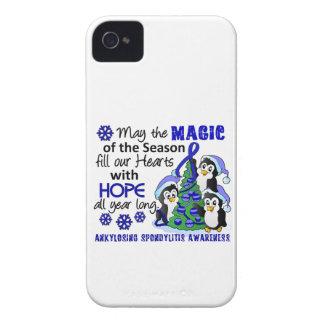 Christmas Penguins Ankylosing Spondylitis AS iPhone 4 Case-Mate Case