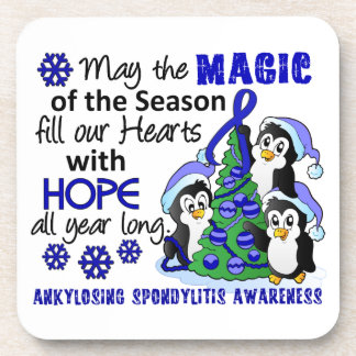 Christmas Penguins Ankylosing Spondylitis AS Beverage Coasters