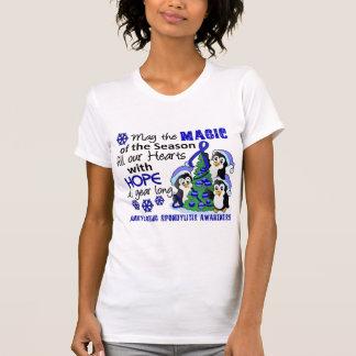 Christmas Penguins Ankylosing Spondylitis AS T-shirt
