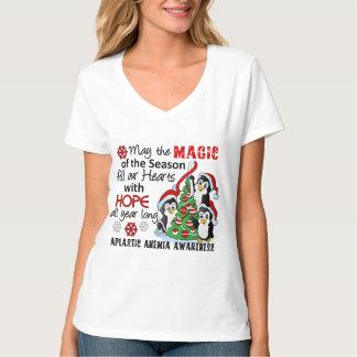 Christmas Penguins Aplastic Anemia T-Shirt