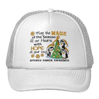 Christmas Penguins Appendix Cancer Mesh Hats