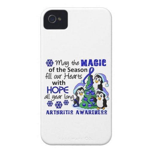 Christmas Penguins Arthritis iPhone 4 Case-Mate Case