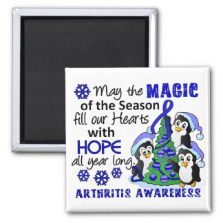 Christmas Penguins Arthritis 2 Inch Square Magnet