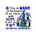 Christmas Penguins Arthritis Postcard