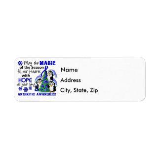 Christmas Penguins Arthritis Return Address Label