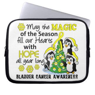 Christmas Penguins Bladder Cancer Computer Sleeve