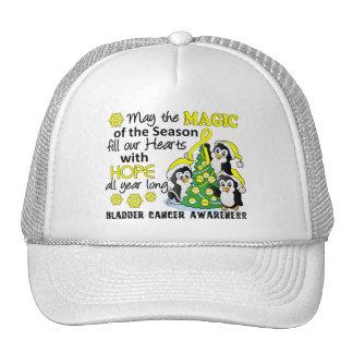 Christmas Penguins Bladder Cancer Hat