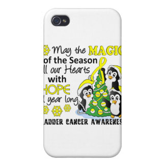 Christmas Penguins Bladder Cancer iPhone 4/4S Covers
