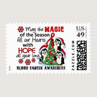 Christmas Penguins Blood Cancer Postage