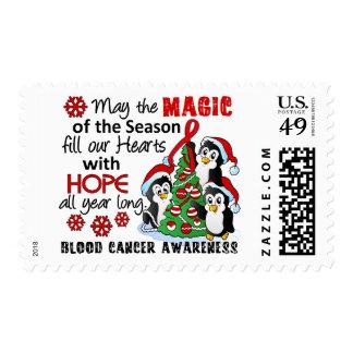Christmas Penguins Blood Cancer Stamps
