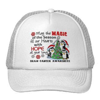 Christmas Penguins Brain Cancer Trucker Hat