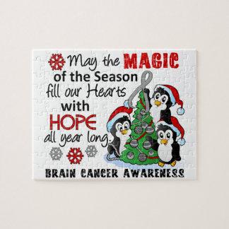 Christmas Penguins Brain Cancer Jigsaw Puzzle