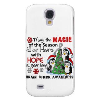 Christmas Penguins Brain Tumor Samsung Galaxy S4 Cases