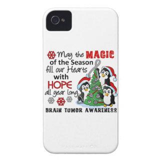 Christmas Penguins Brain Tumor iPhone 4 Cases
