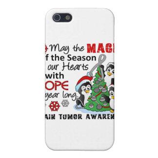 Christmas Penguins Brain Tumor iPhone 5 Covers
