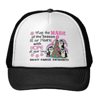 Christmas Penguins Breast Cancer Hat